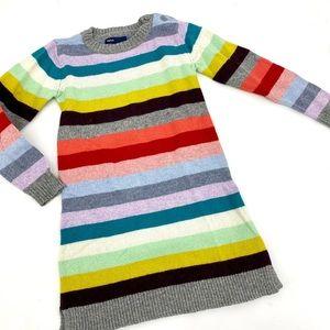 GAP striped sweater dress size S 6-7